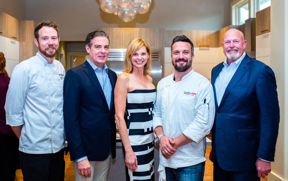 Photo - Chef Jonathon Stranger, Christian Keesee, Celina Abernathy, Chef Fabio Viviani, Russ Harrison. PHOTO PROVIDED