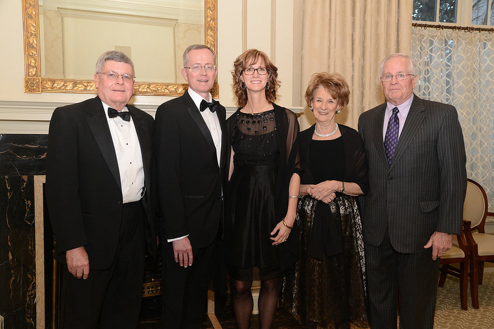 Photo - John Finley, Chuck and Ann Neal, Letty Goldenberg, Mike Sexton. Photo by David Faytinger, for The Oklahoman