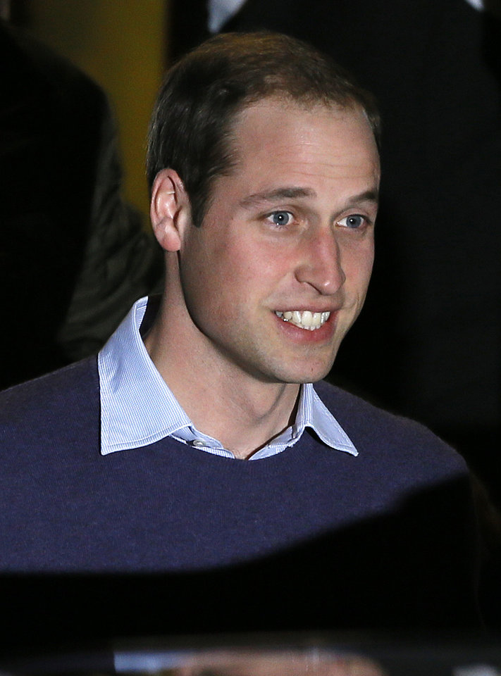Britain\'s Prince William leaves a hospital in central London, Tuesday, Dec. 4, 2012. Kate, The Duchess of Cambridge is being treated at the hospital for severe morning sickness. (AP Photo/Kirsty Wigglesworth)