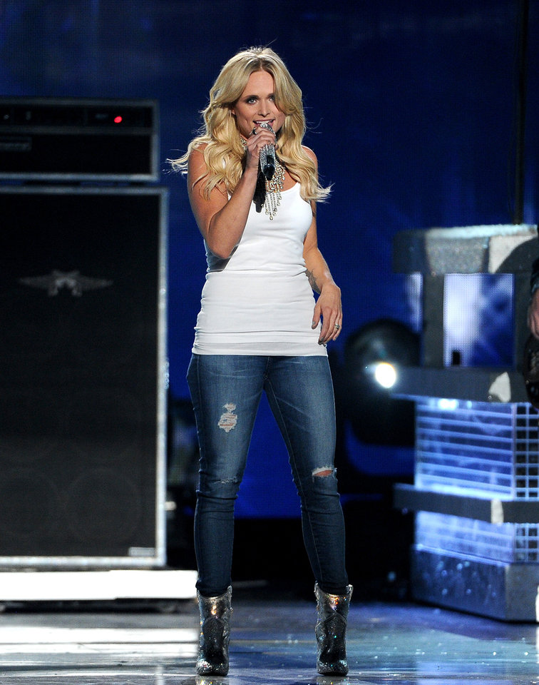 Photo - Miranda Lambert performs on stage at the 49th annual Academy of Country Music Awards at the MGM Grand Garden Arena on Sunday, April 6, 2014, in Las Vegas. (Photo by Chris Pizzello/Invision/AP)
