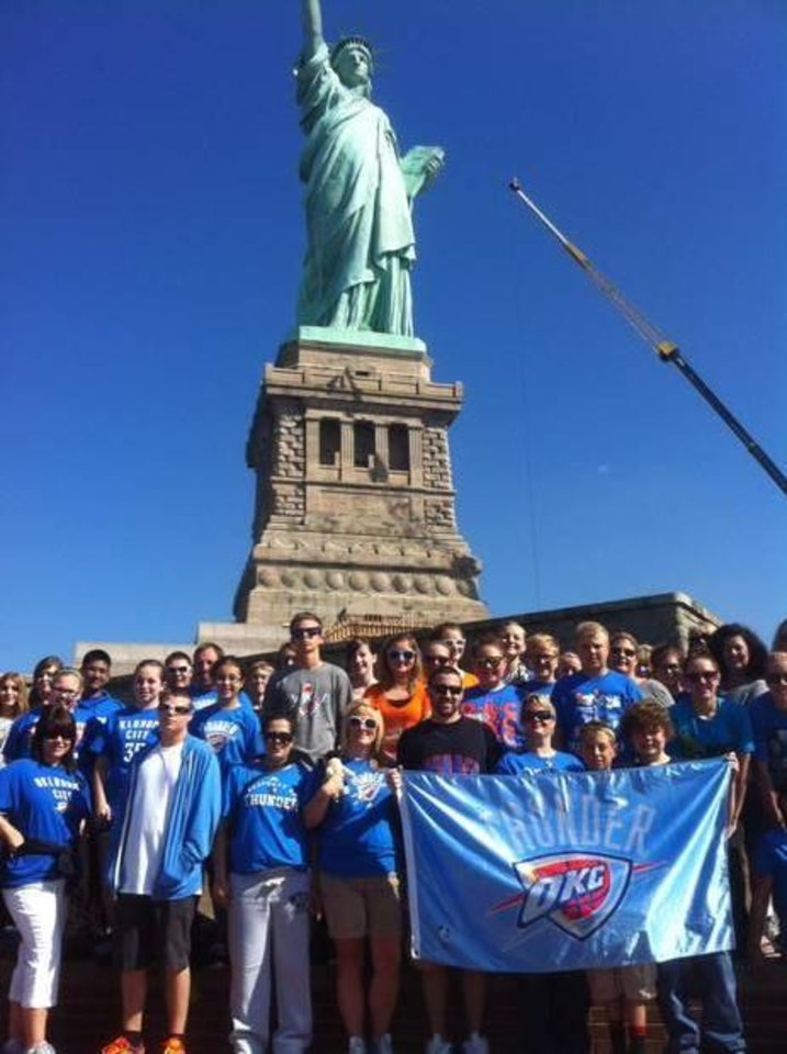 Students from Woodward, Okla. took their Thunder pride to New York City.
