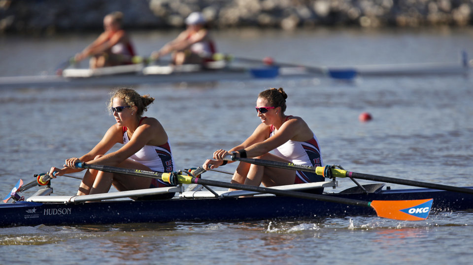 United States 1 team of Olivia Coffey and Grace Luczak compete in the women's World Challenge 2000m race during the Oklahoma Regatta Festival at the Oklahoma River on Saturday, Oct. 1, 2011, in Oklahoma City, Okla. Photo by Chris Landsberger, The Oklahoman