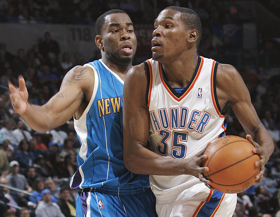 Kevin Durant, right, and the Thunder could make noise in the playoffs.  Photo by Nate Billings, The Oklahoman