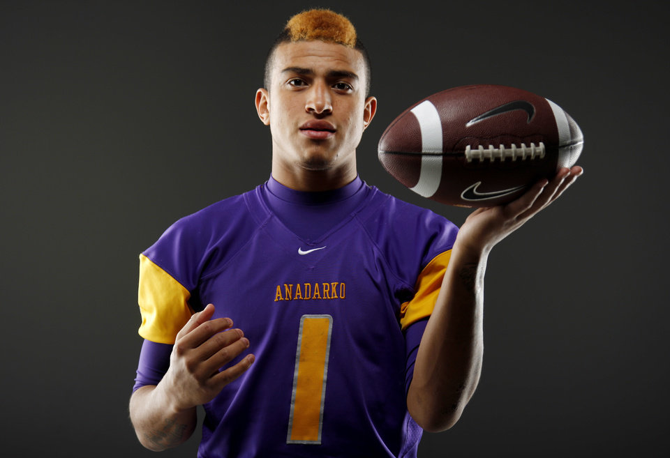 All-State football player Sheldon Wilson, of Anadarko, poses for a photo in Oklahoma CIty, Wednesday, Dec. 14, 2011. Photo by Bryan Terry, The Oklahoman