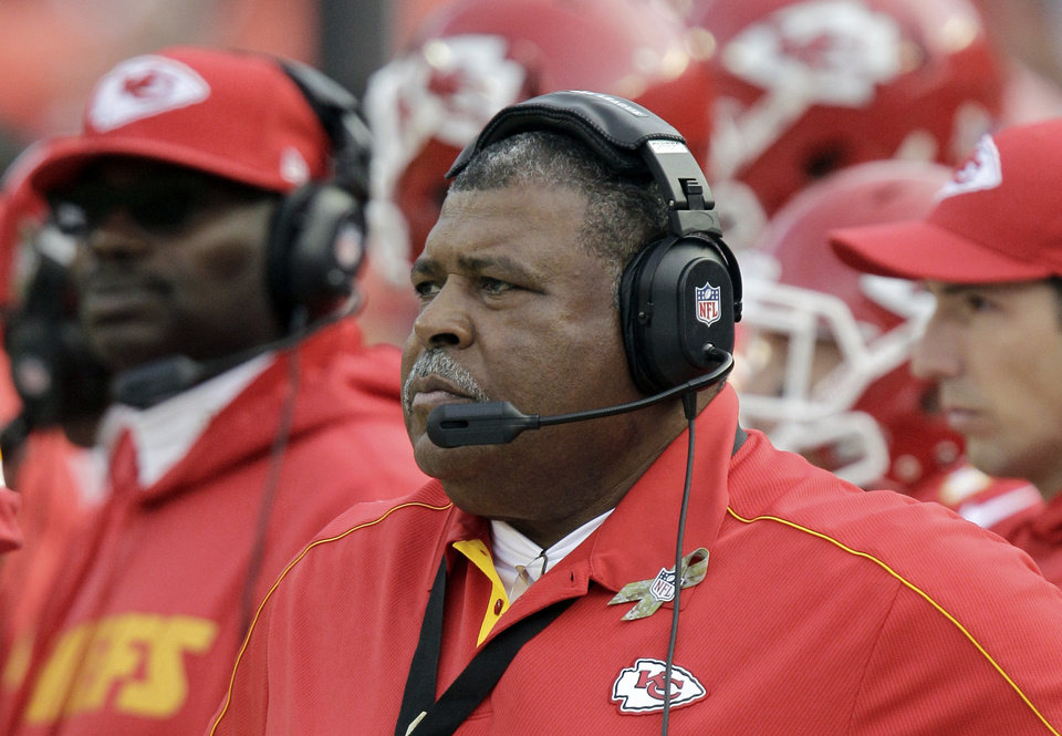 Photo -   ADVANCE FOR EDTIONS FOR NOV. 22-25 - FILE - In this Nov. 18, 2012, file photo, Kansas City Chiefs coach Romeo Crennel watches during the second half of an NFL football game against the Cincinnati Bengals in Kansas City, Mo. In a galaxy far, far away from the chase for the Super Bowl live such creatures as Jaguars and Panthers, Eagles and Raiders, Chiefs and Browns. The worst of the worst in the NFL. (AP Photo/Chris Ochsner, File)