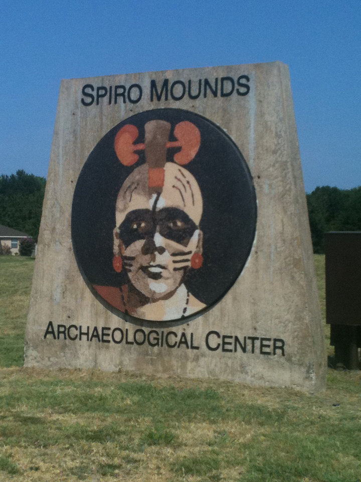Photo - The entrance to the Spiro Mounds Archaelogical Center. PHOTO PROVIDED.