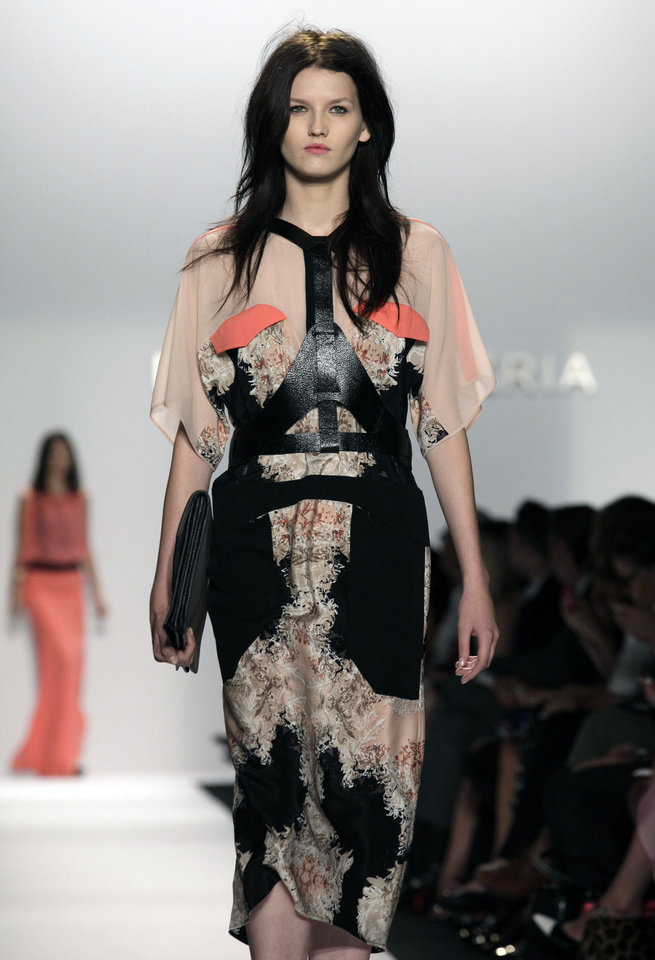 Photo -   The BCBG MAX AZRIA Spring 2013 collection is modeled during Fashion Week in New York, Thursday, Sept. 6, 2012. (AP Photo/Richard Drew)