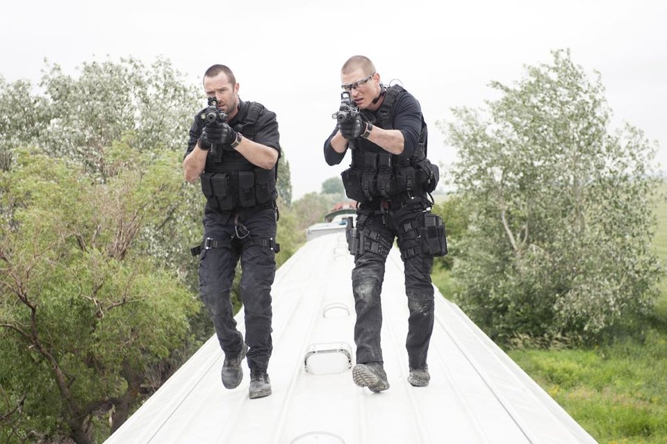 Photo -  Sullivan Stapleton (l.) and Philip Winchester (r.) - Photo by Liam Daniel/Cinemax