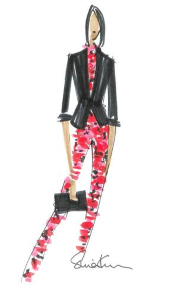 Photo -  One of the sketches from the new Banana Republic L'Wren Scott holiday collection.