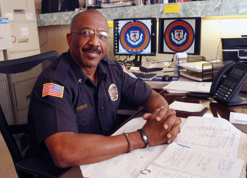 Photo - Frank Atkinson is the new Langston University Chief of Police in Langston, OK, Friday, December 7, 2012,  By Paul Hellstern, The Oklahoman