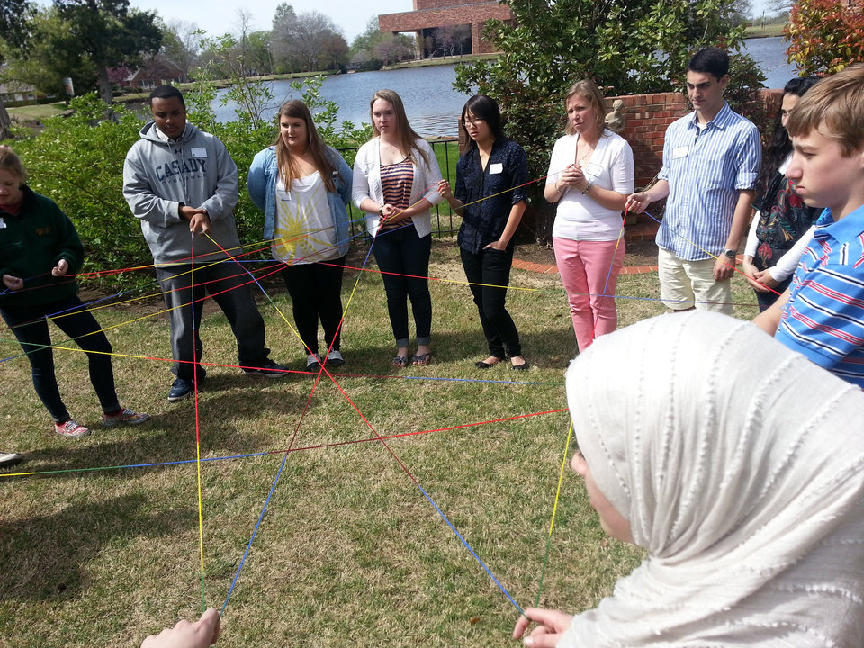 Photo - Youth LEAD students participating in an activity during their retreat. Photo provided.
