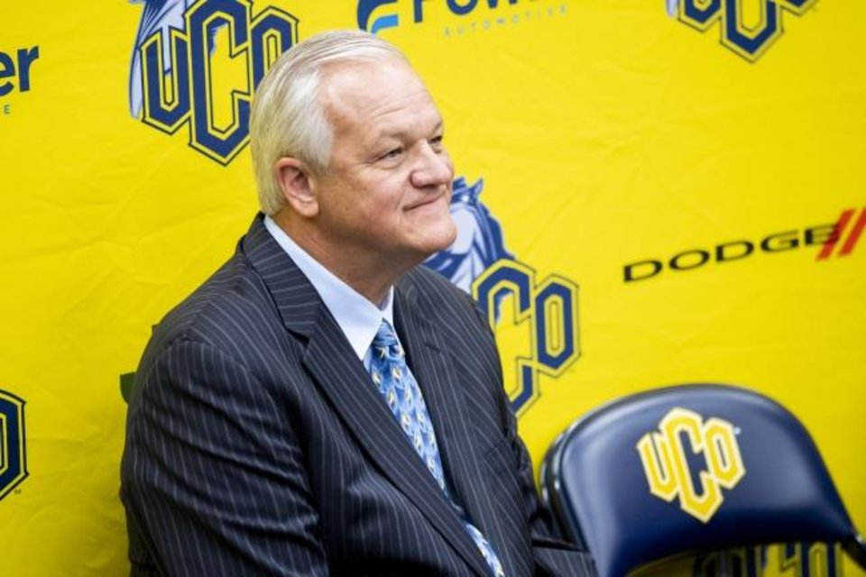 Photo -  Bob Hoffman spent 11 seasons coaching men's basketball at Mercer before being unexpectedly fired in March. The Oklahoma native has returned to his home state, introduced Monday as the new coach at Central Oklahoma. [UCO PHOTO SERVICES]