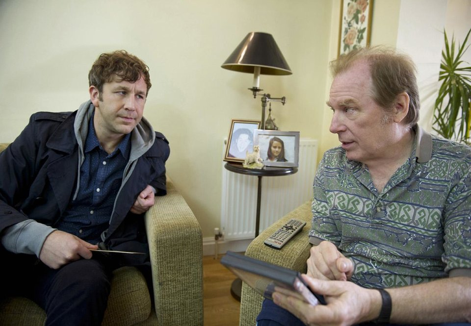 Photo -  FAMILY TREE episode 2: Chris O'Dowd, Michael McKean. photo: Ray Burmiston