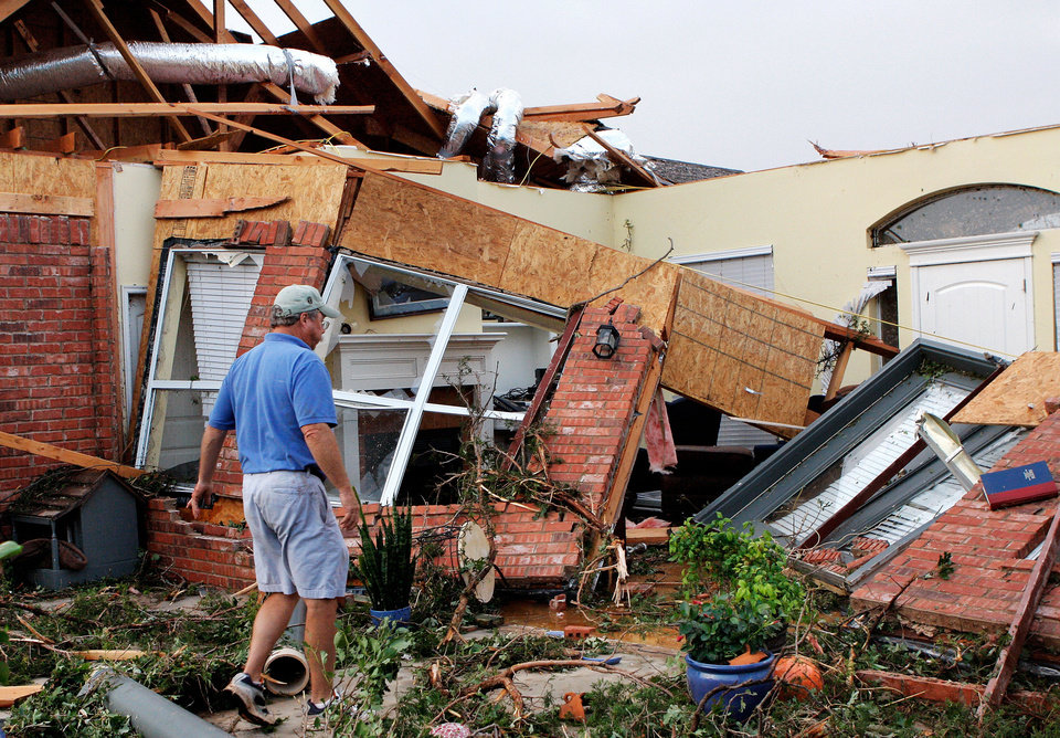 The May 24, 2011, tornado heavily damaged this home in Guthrie.  PHOTO BY JIM BECKEL, THE OKLAHOMAN <strong>JIM BECKEL</strong>