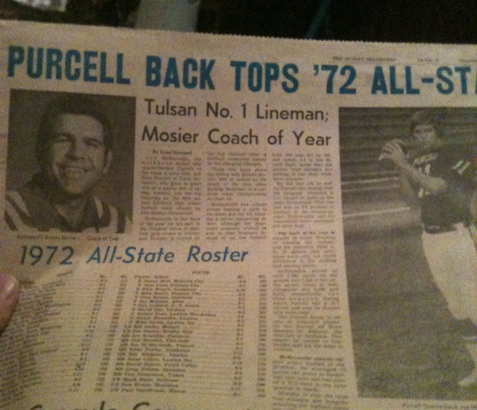 Photo - 1972 Oklahoman with All-State team. PHOTO PROVIDED