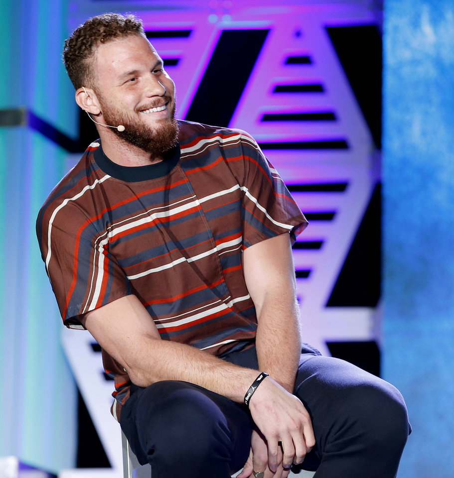 Photo - Blake Griffin speaks during The Oklahoman's Best of Preps All-City Sports Awards in Oklahoma City, Monday, June 3, 2019. [Bryan Terry/The Oklahoman]
