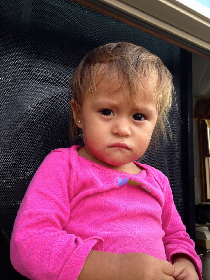 Photo -  The face of this Honduran girl haunts Lisa Stallings who is volunteering on a mission trip at the Mexican border with Oklahoma City nonprofit People Caring for People. Photo provided.