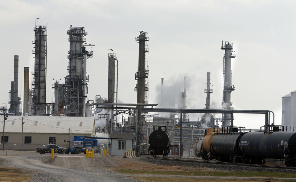 A Sept. 28 boiler explosion at the Wynnewood Refinery killed two workers. Some residents are concerned about safety at the refinery, which provides the bulk of the city�s jobs and property taxes. Photo by Steve Sisney, The Oklahoman