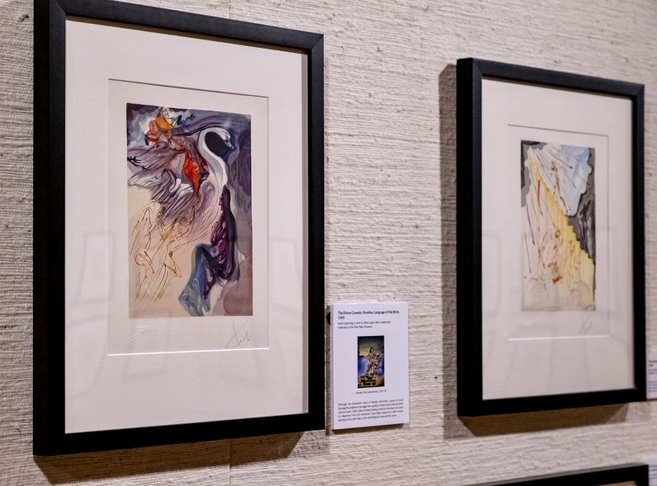 Photo - Artwork by Salvador Dali is on display in the exhibit
