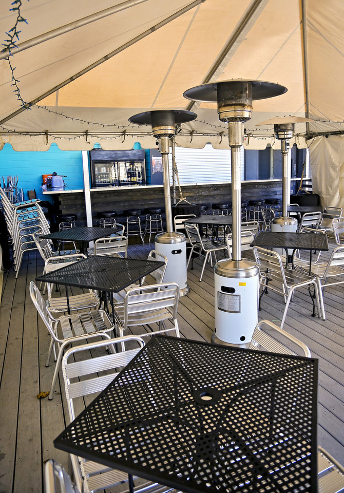 Photo - The Phish-themed high rise patio at Guyutes. [Chris Landsberger, The Oklahoman]