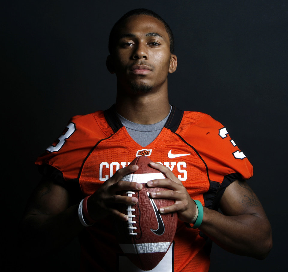 Photo - OSU, COLLEGE FOOTBALL: Defensive back William Cole poses for a portrait during Oklahoma State University Media Day at Gallagher-Iba Arena in Stillwater, Okla., Saturday, August 4, 2007. By Matt Strasen, The Oklahoman ORG XMIT: KOD