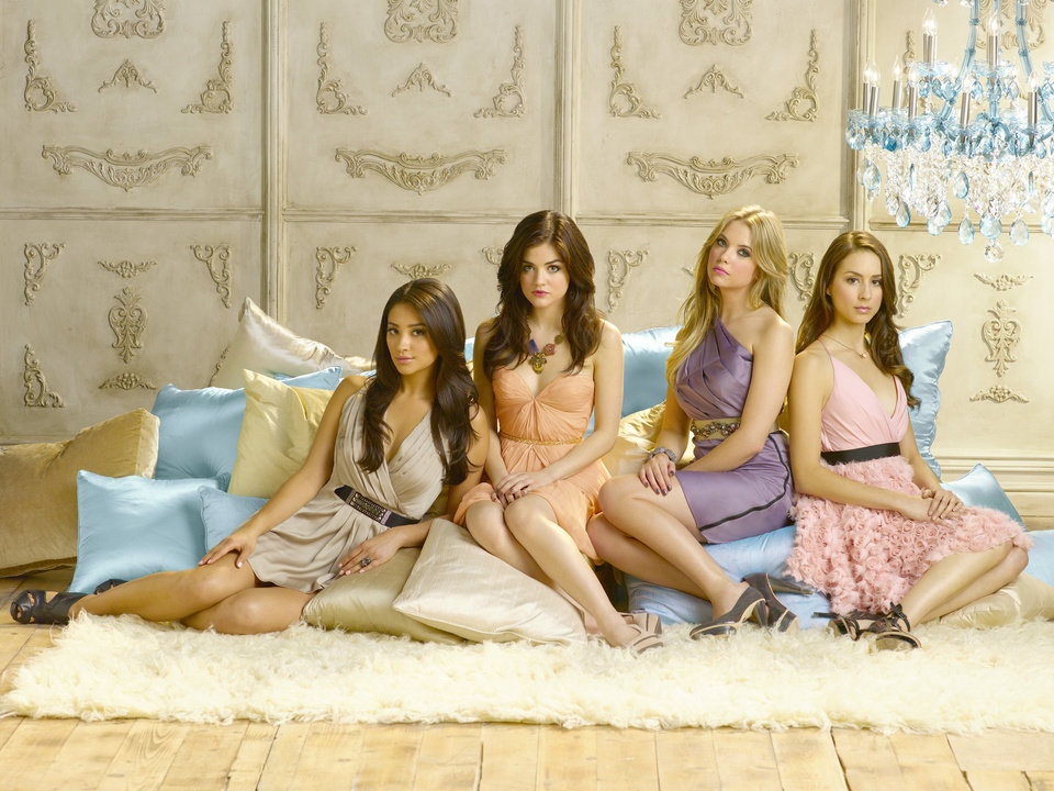 "PRETTY LITTLE LIARS - ABC Family's ""Pretty Little Liars"" stars Shay Mitchell as Emily Fields, Lucy Hale as Aria Montgomery, Ashley Benson as Hanna Marin and Troian Bellisario as Spencer Hastings. (ABC FAMILY/BOB D'AMICO)"