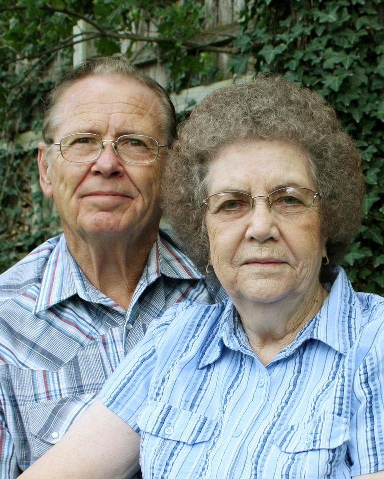 Charles and Faye Smallwood, of Oklahoma City, were married Aug. 30, 1952, in Checotah.