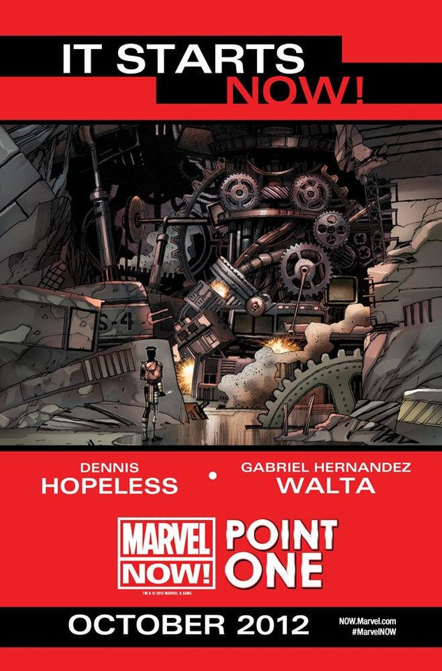 "Promotional art for ""Marvel NOW! Point One."" Marvel Comics. <strong></strong>"