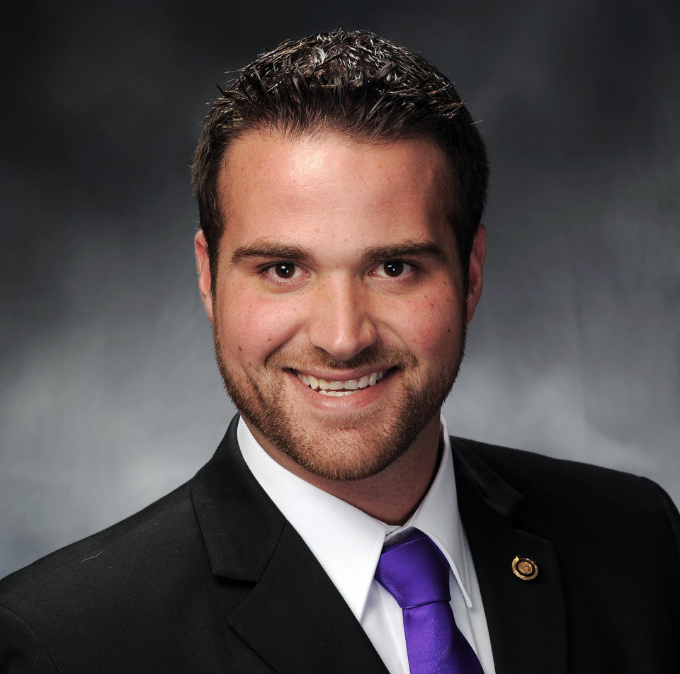 Photo -   This photo provided on May 2, 2012, by Missouri House Communications shows Rep. Zachary Wyatt. The Republican Missouri House member announced Wednesday, May 2, that he's gay and is calling on GOP leaders to end legislation that would limit discussion of sexual orientation in public schools. (AP Photo/Missouri House Communications)