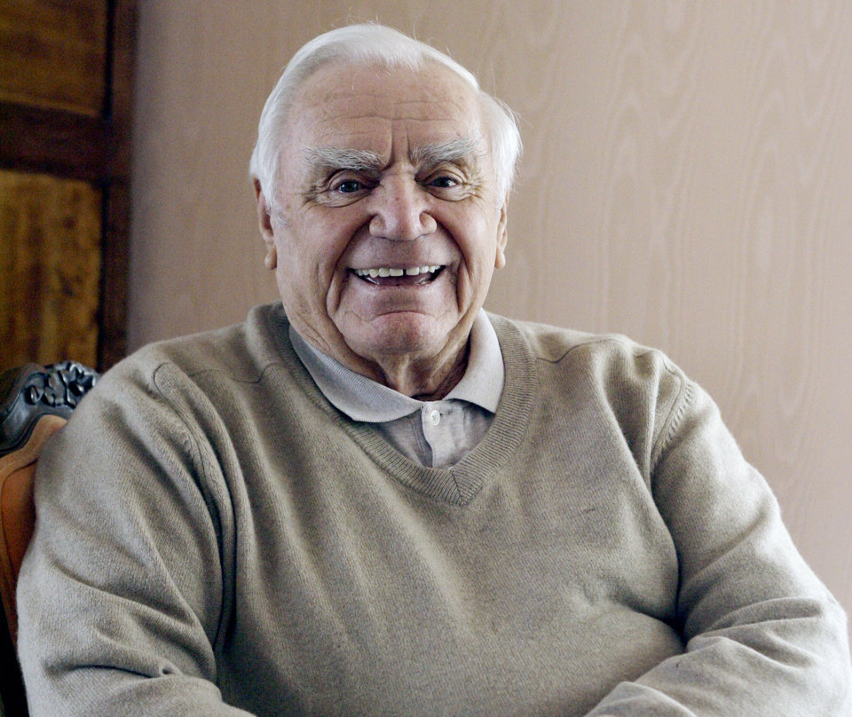 Photo - Actor Ernest Borgnine is photographed at his home near Coldwater Canyon in Beverly Hills, Calif. Wednesday, Jan. 17, 2007. His 90th birthday is on Wednesday, January 24.(AP Photo/Damian Dovarganes) ORG XMIT: LA304