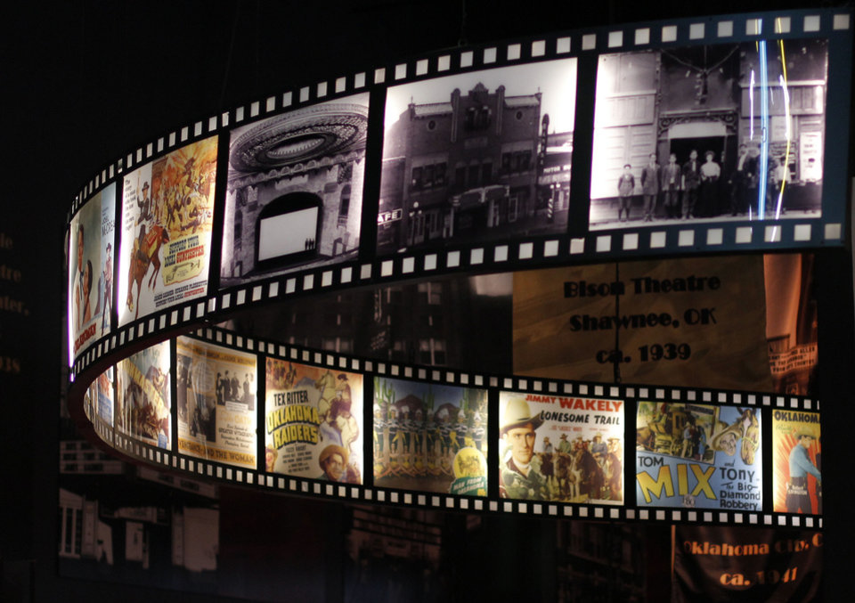 Photo - Vintage posters and photos of historic Oklahoma movie theaters are on view in the
