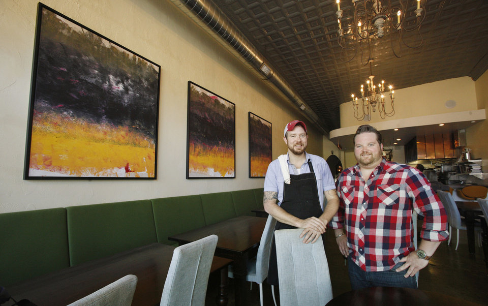 Chefs and co-owners Jonathon Stranger and Russ Johnson at Ludivine in Oklahoma City. <strong>PAUL B. SOUTHERLAND - THE OKLAHOMAN</strong>