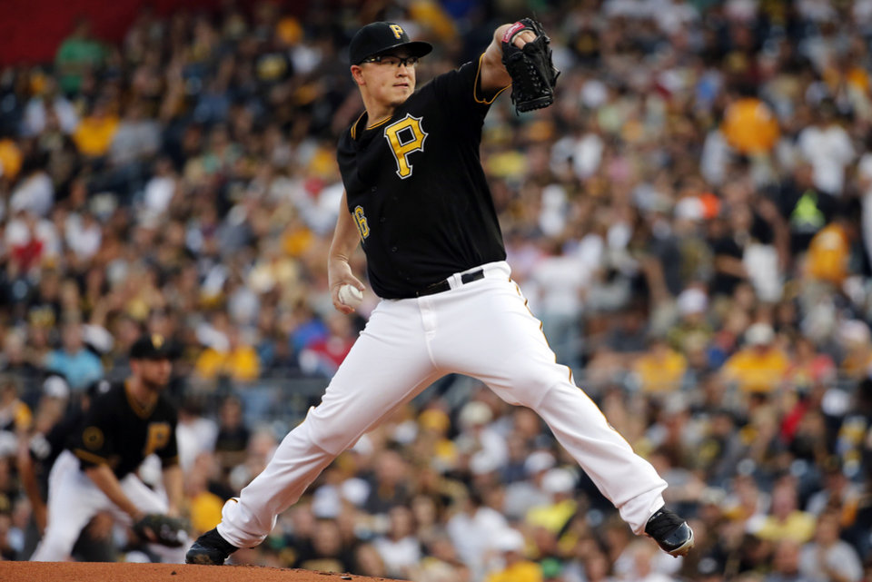 Photo - Pittsburgh Pirates starting pitcher Vance Worley delivers during the first inning of a baseball game against the San Diego Padres in Pittsburgh, Friday, Aug. 8, 2014. (AP Photo/Gene J. Puskar)