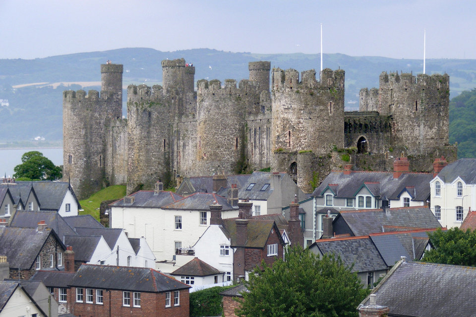 Photo - Mighty Conwy Castle had a water gate that allowed safe entry for English boats in a land of hostile Welsh. (Photo by Gretchen Strauch)