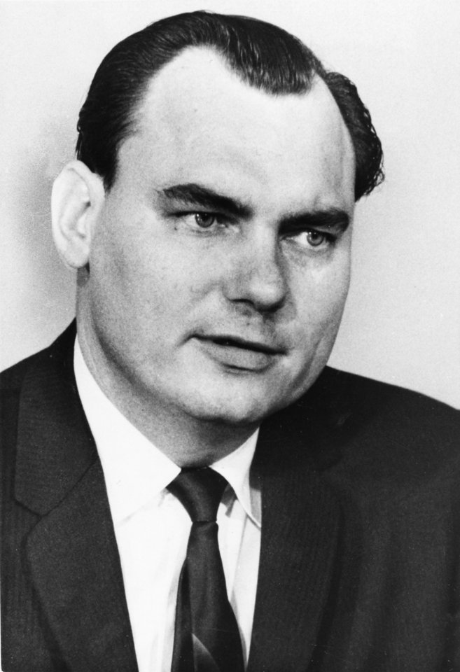 Photo - Portrait of State Sen. Gene Stipe, D-McAlester, taken in March of 1968. Staff photo by Robert Taylor taken 3/26/68; photo ran in the 5/30/71 Daily Oklahoman.