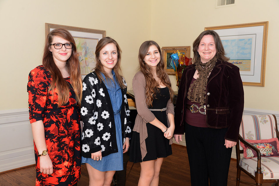 Photo - Caroline Shepard, Erin Melton, Genesa Cefali, Karen McChesney.  Photo s by David Faytinger, for The Oklahoman