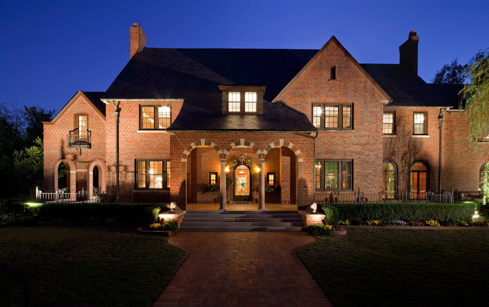 The 2012 Symphony Show House, 440 NW 15, is seen at night. Photos provided