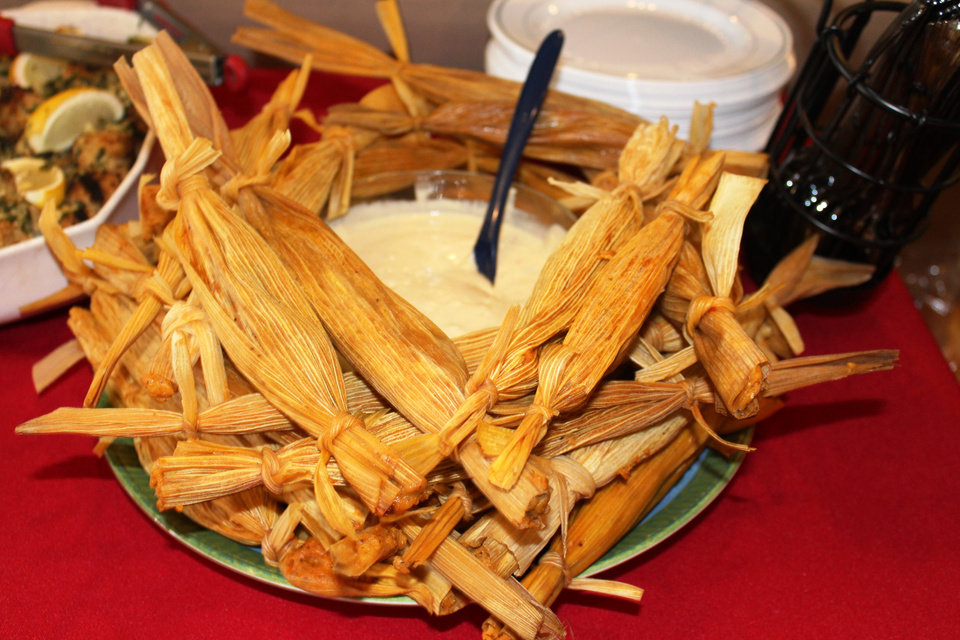 Photo -  Tamales are a festive dish perfect for the large gatherings often associated with the holidays. [PHOTO BY DAVE CATHEY, THE OKLAHOMAN]