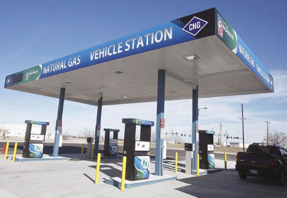 Photo - If all goes well, Norman's new compressed natural gas fueling station will open to the public Monday. PHOTOS BY STEVE SISNEY, THE OKLAHOMAN