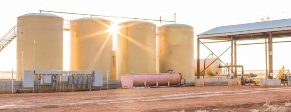 Photo -  The company owns saltwater disposal facilities across the larger Anadarko Basin, a water recycling center with 1.2 million barrels of storage capacity and owns and operates a fleet of water hauling trucks. [Provided]