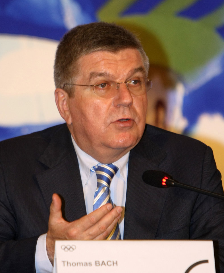 "IOC President Thomas Bach speaks during a press conference in Pyeongchang, South Korea, Wednesday, July 2, 2014. Bach said the world body is confident that Pyeongchang can organize ""excellent"" Winter Games in 2018. (AP Photo/Yonhap, Jin Jeong-young) KOREA OUT"