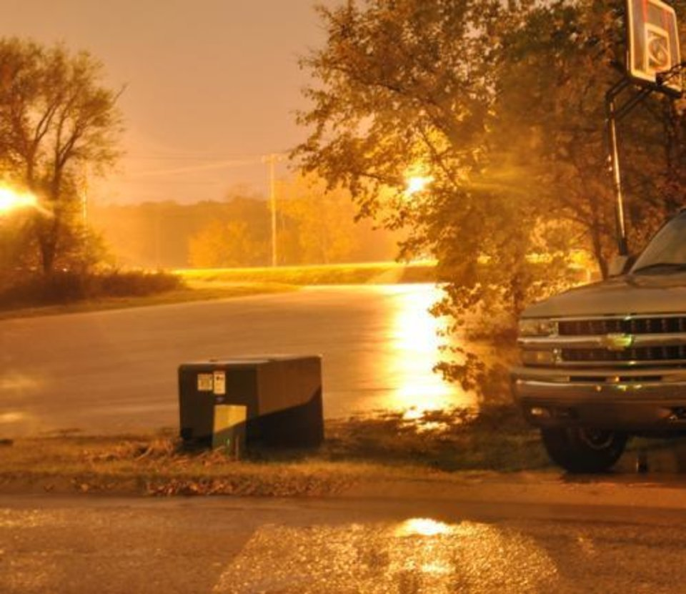 Photo - Rising waters in Edmond, OK on Nov. 7th, 2011. Photo provided by Jessika Kropf