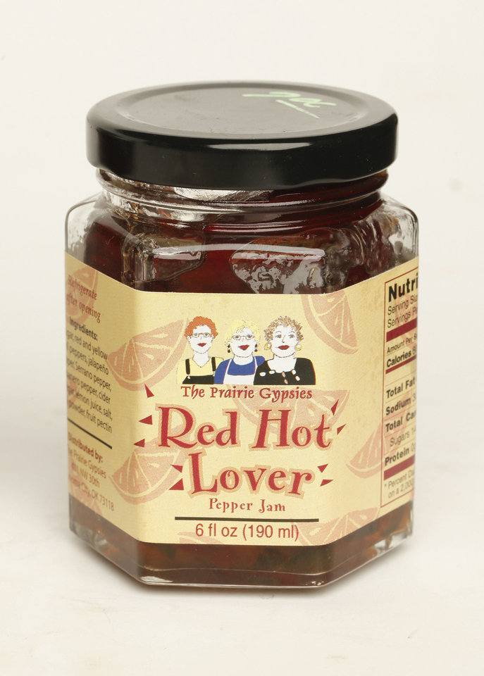 The Prairie Gypsies Red Hot Lover pepper jam.   Photo by Doug Hoke, The Oklahoman. <strong>DOUG HOKE - THE OKLAHOMAN</strong>