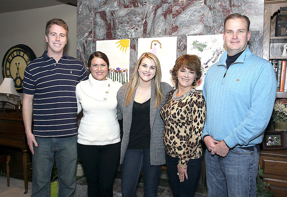 Photo - Jackson Kluck, Sara, Alli, Susan and Ken Whittington.  PHOTOs BY DAVID FAYTINGER, FOR THE OKLAHOMAN