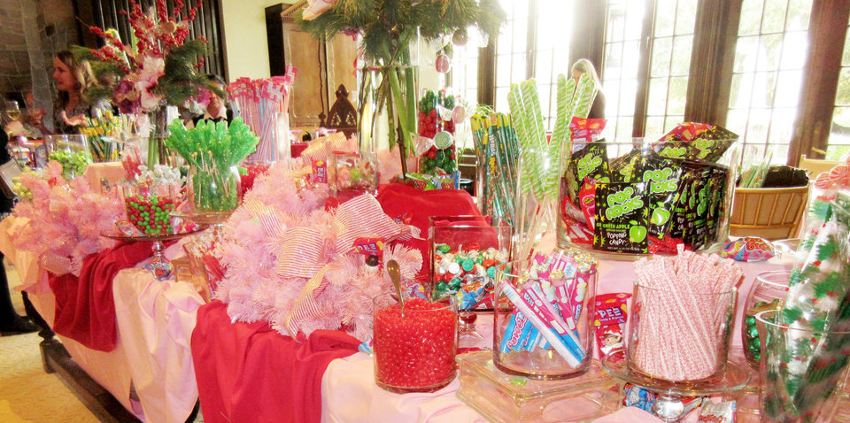 Photo - Buffet table filled with candy. PHOTO BY HELEN FORD WALLACE