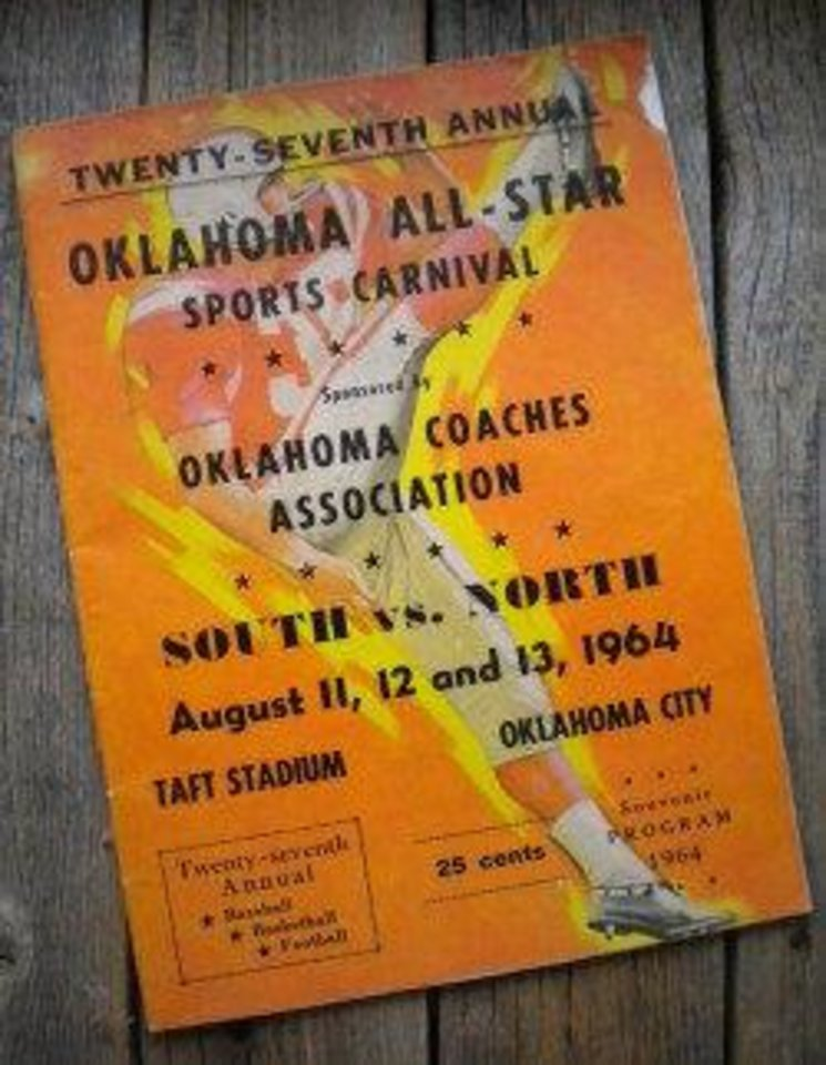 Photo - 1964 All-State game program and rosters.  PHOTO PROVIDED