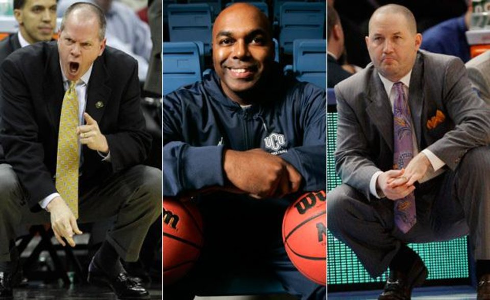 Possible coaching candidates for OU. (From left to right): Colorado head coach Tad Boyle, University of Central Oklahoma head coach and former OU basketball player Terry Evans and Marquette coach and Oklahoma City University graduate Buzz Williams. (Archive Photos)