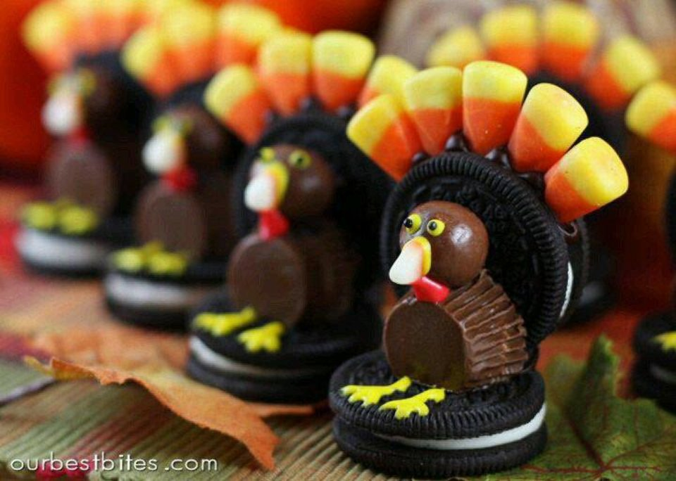 Photo - Find the recipe for these adorable candy and cookie turkeys at Ourbestbites.com. The site includes many festive projects and recipes. Photo provided.