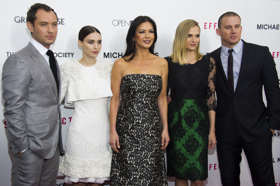 Jude Law, from left, Rooney Mara, Catherine Zeta-Jones, Vinessa Shaw and Channing Tatum attend the premiere of