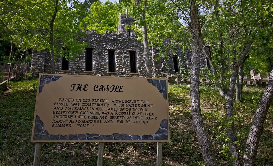 Photo - The historic Collings Castle located in Turner Falls Park is seen on Thursday, April 14, 2011, in Davis, Okla. [Chris Landsberger/The Oklahoman Archives]